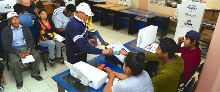ONPE volverá a usar el voto electrónico para elecciones regionales y municipales
