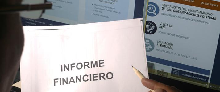 Hasta el 21 de abril organizaciones políticas deben entregar quinto informe financiero de campaña