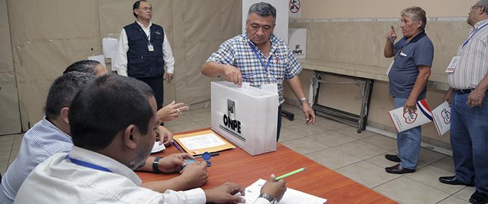 Somos Perú elige dirigentes nacionales con apoyo y asistencia técnica de ONPE
