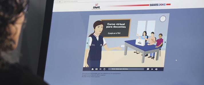 ONPE promueve prácticas democráticas en las escuelas mediante curso virtual para docentes