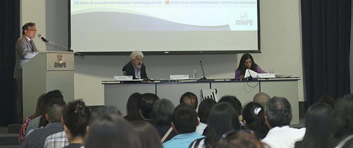 ONPE admite solicitudes de revocatoria de cuatro alcaldes y diez regidores distritales