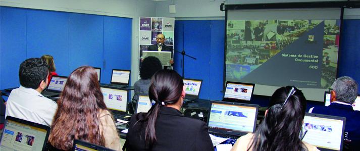 ONPE pone a disposición del Programa Juntos tecnología que elimina el papel en la documentación interna