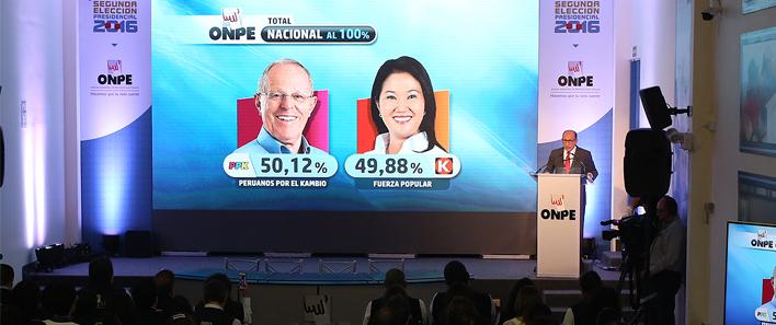 ONPE terminó de procesar el 100 por ciento de actas de la Segunda Elección Presidencial