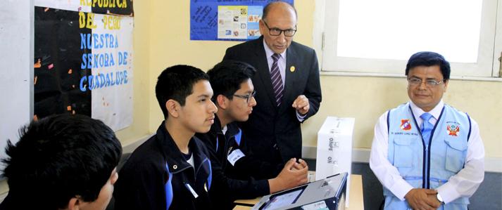 Hoy eligen Municipio Escolar en colegio Guadalupe aplicando por primera vez voto electrónico de la ONPE