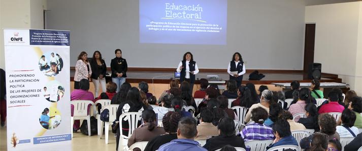 ONPE: Empoderamiento de la mujer contribuye a luchar contra la violencia y la discriminación
