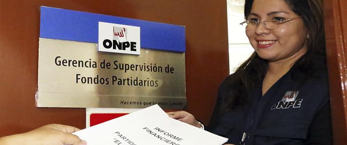 ONPE: Organizaciones políticas pueden presentar Información Financiera Anual hasta el 3 de julio