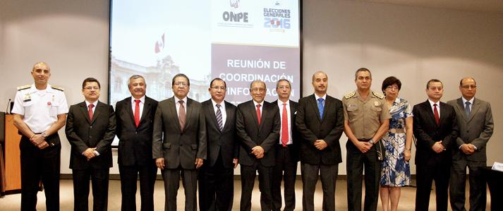 Instituciones del Estado se comprometen a contribuir con ONPE para el adecuado desarrollo de las Elecciones 2016
