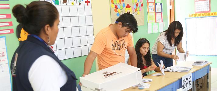 ONPE: Miembros de mesa cumplirán un rol fundamental para el éxito de las Elecciones 2016