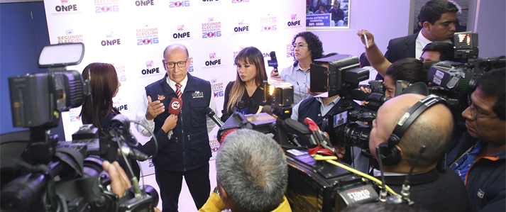 ONPE: Para cómputo final aún falta actas de zonas más alejadas, del extranjero y que se resuelvan las observadas