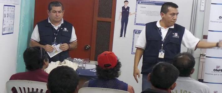 ODPE realiza labores de capacitación e inspección en Ayacucho