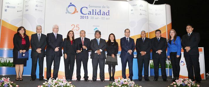 ONPE obtiene medalla de oro en el Premio Nacional a la Calidad