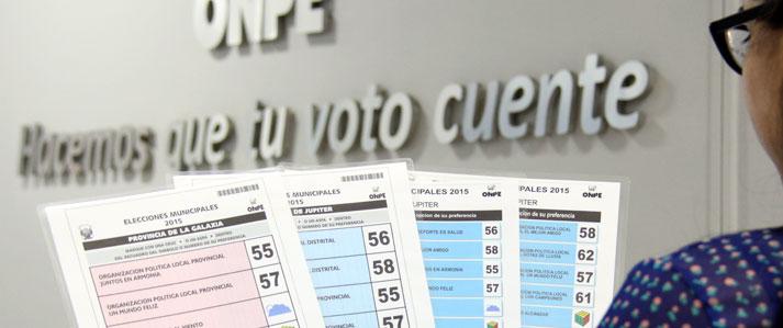 ONPE oficializa modelos definitivos de cédulas para las elecciones municipales del 29 de noviembre