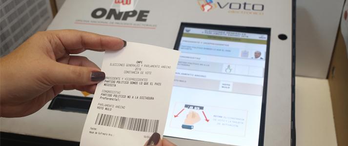 ONPE: Habrá verificación de resultados registrados en mesas con sufragio electrónico