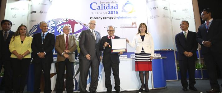 ONPE obtiene el Premio Nacional a la Calidad 2016 en la categoría sector público