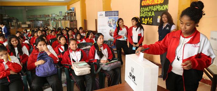 ONPE capacita más de 360 colegios para elecciones de municipios escolares