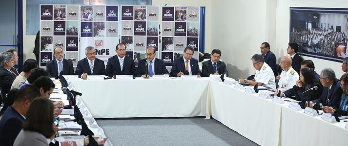 ONPE coordinó medidas de seguridad para la Segunda Elección Presidencial del 05 de junio