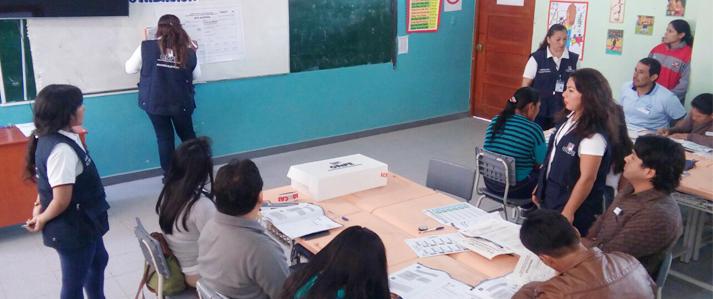 ONPE realizará jornada masiva de capacitación a miembros de mesa en Amazonas, Cajamarca y La Libertad