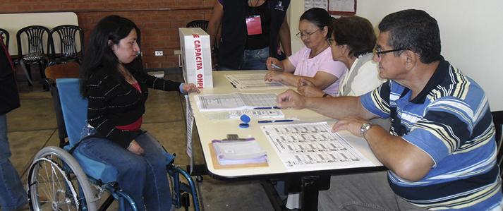 ONPE exhorta a electores con algún tipo de discapacidad a empadronarse  para facilitarles el sufragio