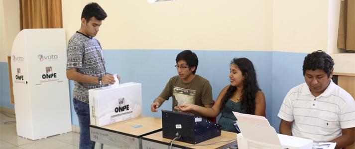 ONPE: Por transparencia se podrá verificar resultados registrados en mesa mediante el voto electrónico