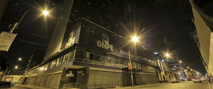 ONPE se sumó a La Hora del Planeta apagando sus luces