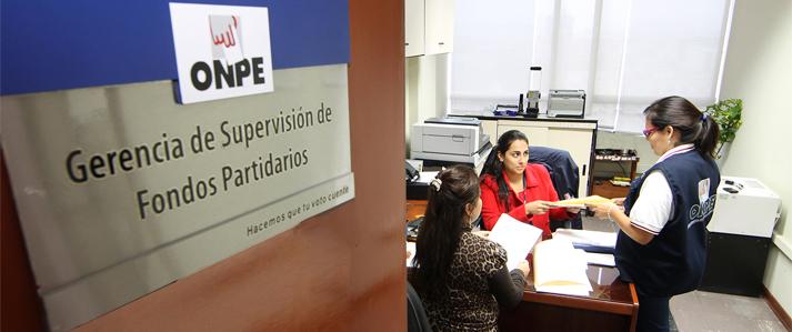ONPE publica listado de aportantes a los partidos políticos y alianzas electorales