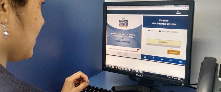 Ciudadanos pueden conocer si fueron sorteados miembros de mesa en la página web de ONPE