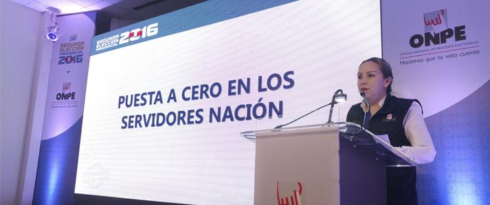 Sistema de Cómputo Electoral de ONPE quedó listo para procesar resultados de Segunda Elección Presidencial