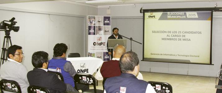 ONPE sortea la próxima semana a más de 700 miembros de mesa para elecciones municipales de noviembre
