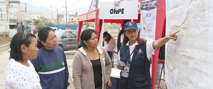 ONPE desarrolló en el Callao plan piloto para que electores puedan sufragar cerca de sus domicilios