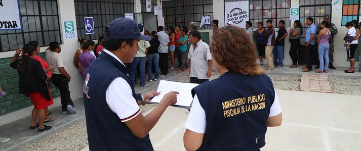 ONPE: Ministerio Público dispuso la participación activa de fiscales en todo el país por Elecciones Generales 2016