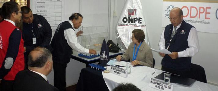 ONPE sorteó 186 miembros de mesa para la Consulta de Revocatoria en Apurímac, Puno y Cusco