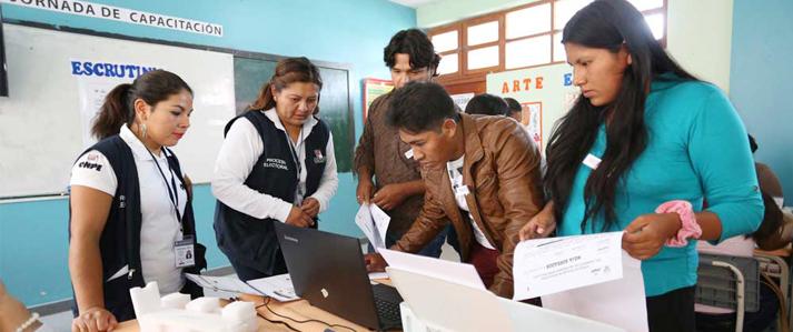 Amazonas: Miembros de mesa de San Cristóbal y La Jalca practicaron el Sistema de Escrutinio Automatizado