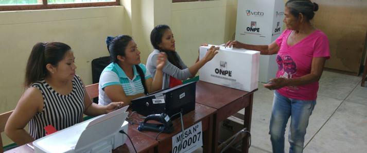 ONPE: Mesas de sufragio se instalaron al 100% en Ayacucho y Ucayali para las Elecciones Municipales