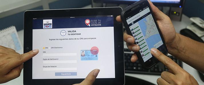 """Premian el aplicativo """"Elige tu local de votación"""" de la ONPE"""