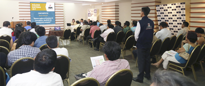 ONPE organiza Diálogo Electoral en Chachapoyas para analizar las nuevas reglas de las revocatorias