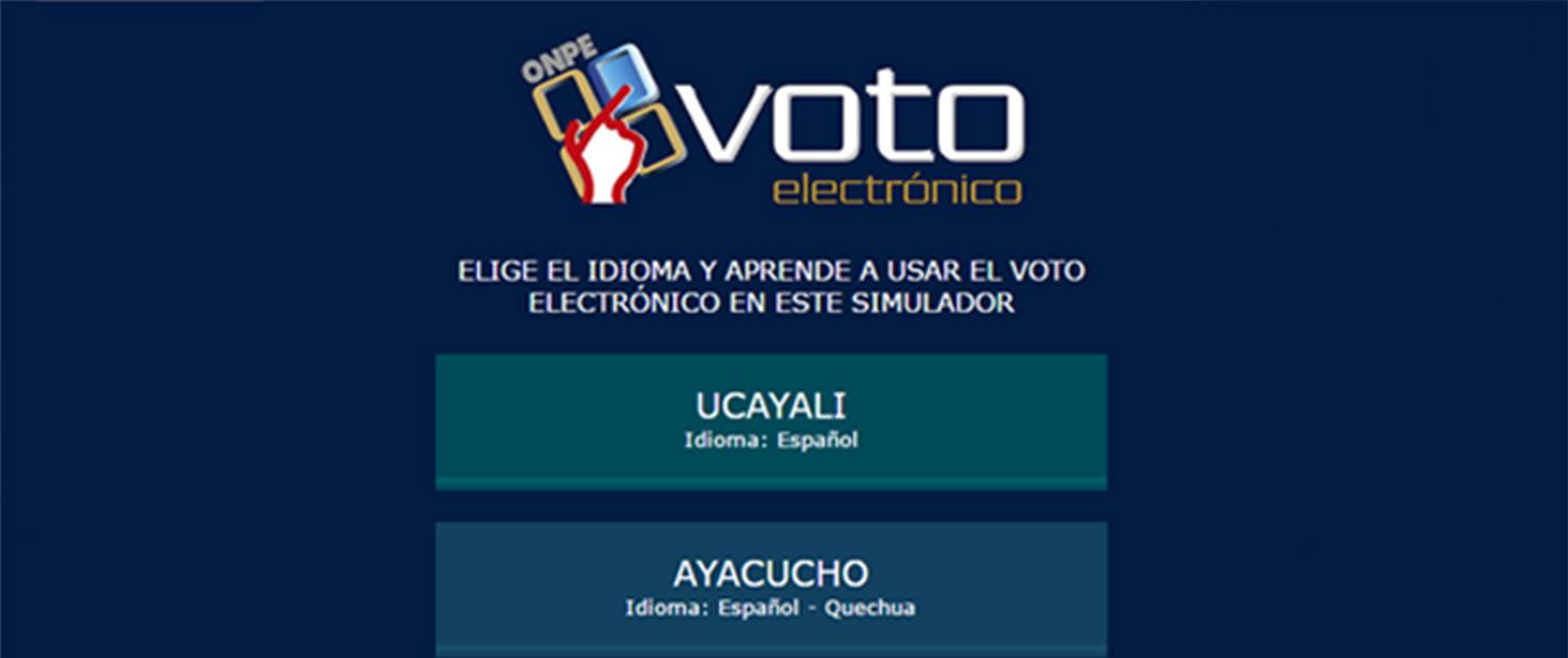 ONPE pone al servicio de los electores un simulador de voto electrónico en castellano y quechua