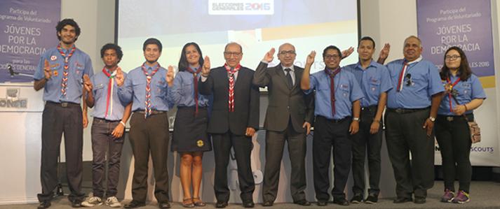 ONPE suscribe convenio con Scouts para que orienten a electores en los comicios del 10 de abril