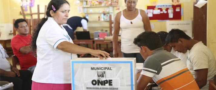 El próximo lunes vence plazo para inscribir listas de candidatos a las Elecciones Municipales 2017 en tres nuevos distritos del Perú