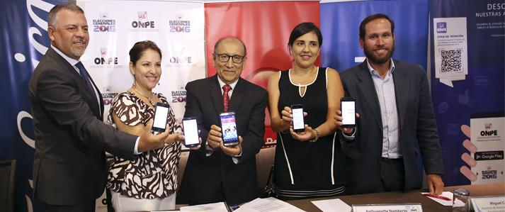 Electores podrán conocer sus locales de votación desde sus celulares