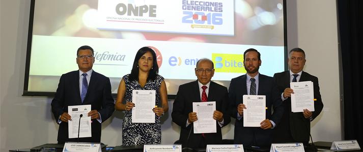 ONPE: Empresas de telefonía móvil se suman a la campaña Elige tu Local de Votación
