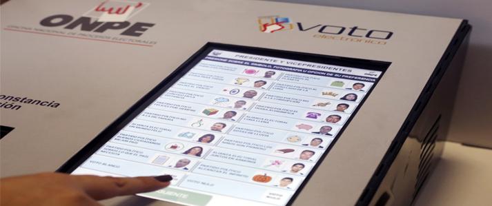 ONPE: Voto electrónico reduce a cero las actas observadas en las elecciones