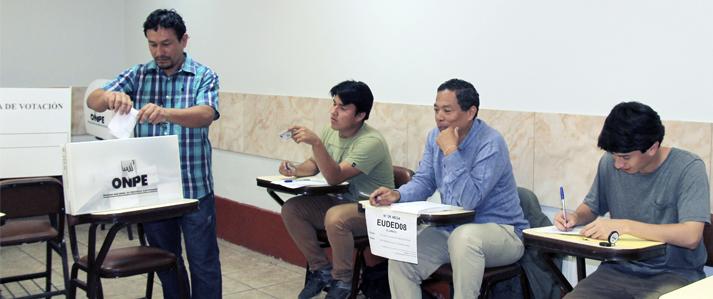 Concluyó votación en la Universidad Nacional Federico Villarreal