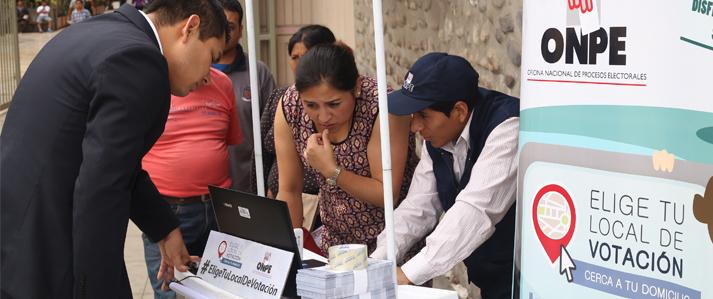"""Jefe de la ONPE invoca a los ciudadanos de Lima y Callao registrarse en """"Elige tu local de votación"""""""