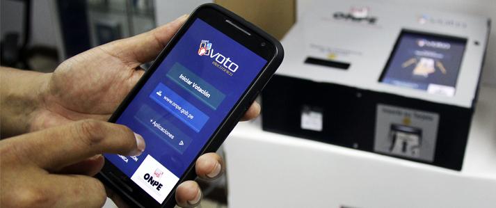 ONPE:  electores pueden practicar uso del voto electrónico desde sus celulares y computadoras