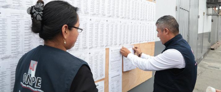 ONPE publica lista definitiva de miembros de mesa