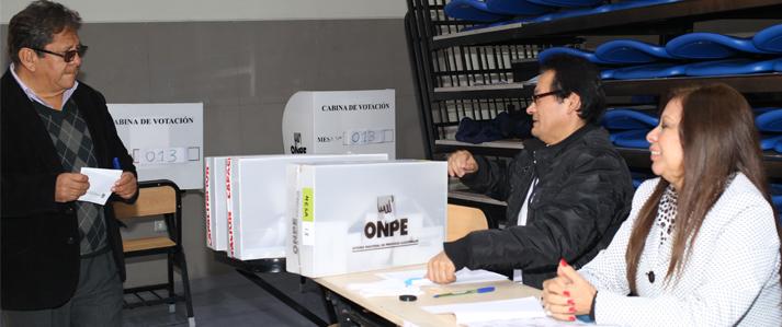 ONPE proporcionó a San Marcos experiencias e innovaciones tecnológicas que permitieron orden y transparencia en la jornada electoral