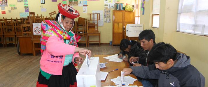 ONPE: Electorado femenino supera la mitad del total de votantes convocados a los comicios generales de 2016