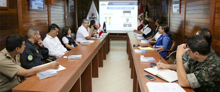 ONPE coordina la seguridad en Ucayali para las elecciones municipales del 12 de marzo