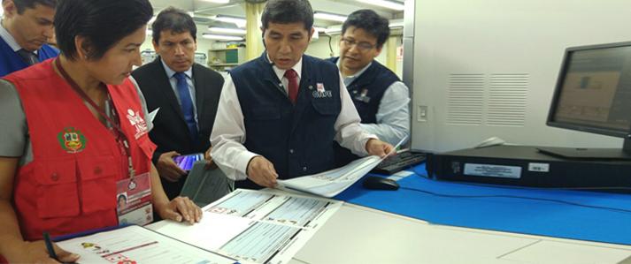 ONPE inicia impresión de cédulas de sufragio para elecciones municipales del 12 de marzo