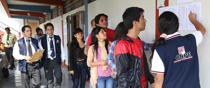 ONPE pone en marcha programa de voluntariado para las Elecciones Generales 2016